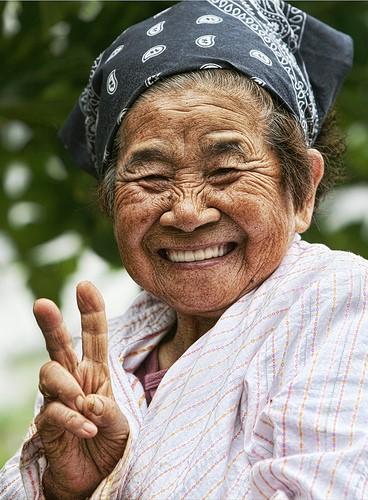 mujer centenaria de Okinawa. Ikigai