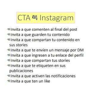 Tipos de CTAs en Instagram