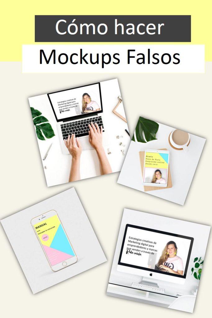 Cómo hacer mockups falsos